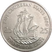 25 cents Elizabeth II (2e effigie) – revers