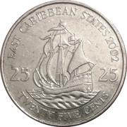 25 cents Elizabeth II (4e effigie) – revers
