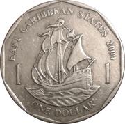 1 dollar Elizabeth II (4e effigie) – revers