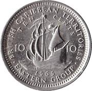 10 cents Elizabeth II (1ère effigie) – revers