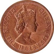 2 cents Elizabeth II (1ère effigie) – avers