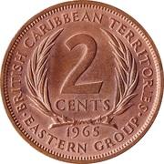 2 cents Elizabeth II (1ère effigie) – revers