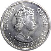 50 cents Elizabeth II (1ère effigie) – avers