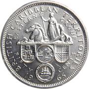 50 cents Elizabeth II (1ère effigie) -  revers