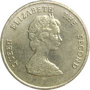 1 dollar Elizabeth II (2e effigie) – avers