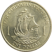 1 dollar Elizabeth II (2e effigie) -  revers