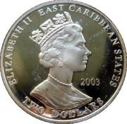 2 Dollars Elizabeth II (Horatio Nelson) – avers