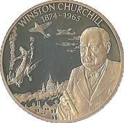 2 dollars (Winston Churchill 1874-1965) – revers
