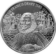 2 Dollars Elizabeth II (Sir Francis Drake) – revers