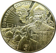 2 Dollars - Elizabeth II (Roi Édouard III) – revers