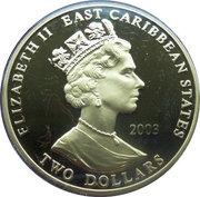 2 Dollars - Elizabeth II (Robert Clive) – avers