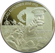 2 Dollars Elizabeth II (Lord Kitchener) – revers
