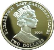 2 Dollars Elizabeth II (Duke of Marlborough) – avers