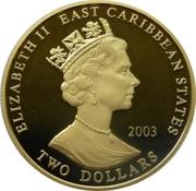 2 Dollars - Elizabeth II (Général Gordon) – avers