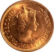½ cent Elizabeth II (1ère effigie) – avers