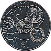 1 dollar Elisabeth II (Pre-Decimal Coinage) – revers