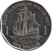 1 dollar - Elizabeth II -  revers