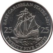 25 cents Elizabeth II (4e effigie, magnétique) – revers