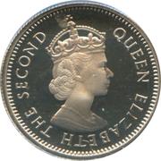 10 cents Elizabeth II (1ère effigie) – avers