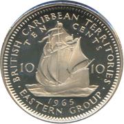 10 cents Elizabeth II (1ère effigie) -  revers