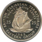 25 cents Elizabeth II (1ère effigie) – revers