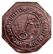 10 pfennig - Oehringen – avers
