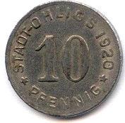 10 pfennig - Ohligs -  avers