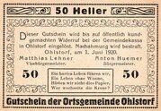 50 Heller (Ohlstorf) -  avers