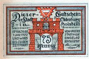 75 Pfennig (Oldenburg in Holstein) – avers