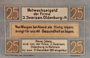 25 Pfennig (Iversen) – avers