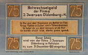 75 Pfennig (Iversen) – avers