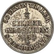 ½ Silbergroschen - Paul Friedrich August – revers