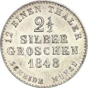 2½ Silber Groschen - Paul Friedrich August – revers