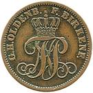 2 Pfennige - Paul Friedrich August – avers