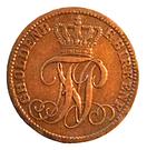 1 Pfennig - Paul Friedrich August – avers