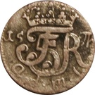 4 pfennig Frederik  V du Danmark – avers
