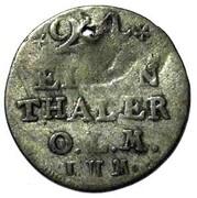 1/24 Thaler - Friedrich V of Denmark – revers