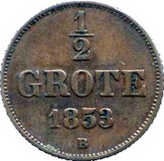½ Grote - Nicolaus Friedrich Peter – revers