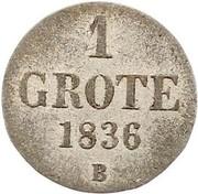 1 Grote - Paul Friedrich August – revers