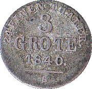 3 Grote - Paul Friedrich August – revers