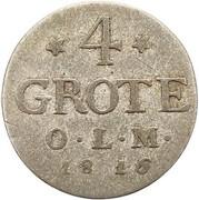 4 grote - Peter Friedrich Wilhelm – revers