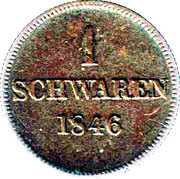 1 Schwaren - Paul Friedrich August – revers