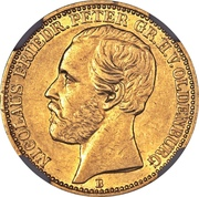 10 Mark - Nicolaus Friedrich Peter – avers
