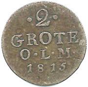 2 Grote - Peter Friedrich Wilhelm – revers