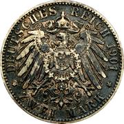 2 Mark - Friedrich August – revers