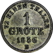 1 grote – revers