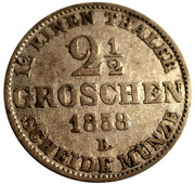 2½ Groschen - Nicolaus Friedrich Peter – revers