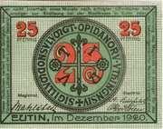 25 Pfennig (Eutin) – avers