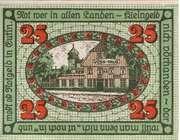 25 Pfennig (Eutin) – revers
