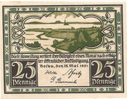 25 Pfennig (Bosau) – avers